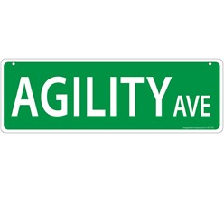 Agility Avenue Street Sign