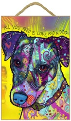 Jack Russell - All you need is love and a dog sign
