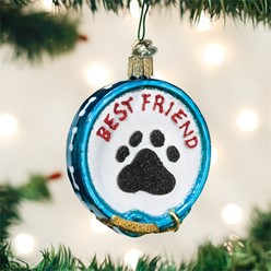 Best Friend Dog Collar Old World Christmas Ornament