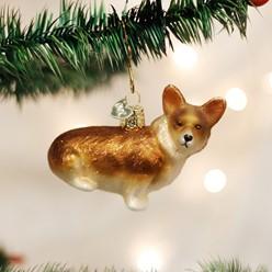 Pembroke Welsh Corgi Old World Christmas Dog Ornament