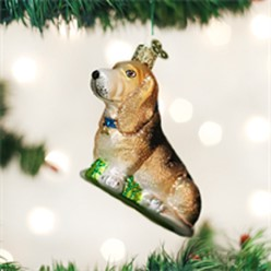 Basset Hound Old World Christmas Dog Ornament