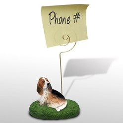 Basset Hound Memo Holder