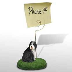 Bearded Collie Dog Memo Holder