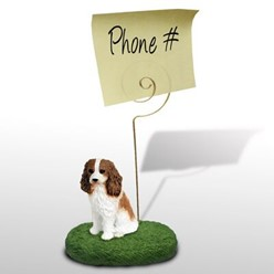 Cavalier King Charles Memo Holder - click for more breed colors