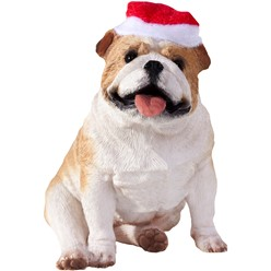 Bulldog Sandicast Dog Christmas Ornament