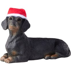 Dachshund Sandicast Dog Christmas Ornament