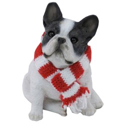 French Bulldog Sandicast Dog Christmas Ornament