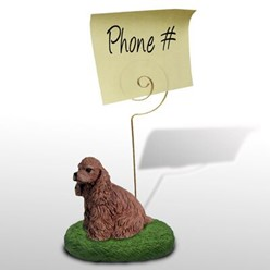 Cocker Spaniel Memo Holder - click for more breed colors
