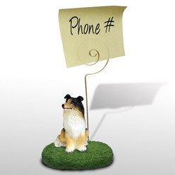 Collie Memo Holder - click for more breed options