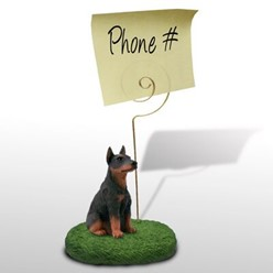 Doberman Pinscher Memo Holder - click for more breed options
