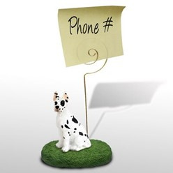 Great Dane Memo Holder - click for more breed options