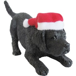 Black Labrador Retriever Sandicast Dog Christmas Ornament