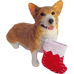 Pembroke Welsh Corgi Sandicast Dog Christmas Ornament