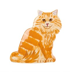 Orange Tabby Cat Large Vase, Rescue Me Now