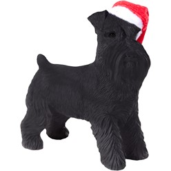 Black Schnauzer Sandicast Dog Christmas Ornament
