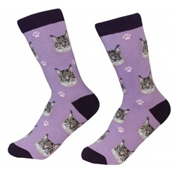 Maine Coon Cat Pet Lover Socks