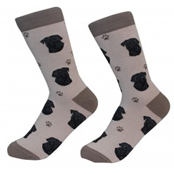 Pug Black Pet Lover Socks