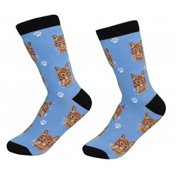 Tabby Cat Orange Pet Lover Socks