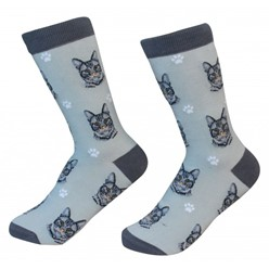Tabby Cat Silver Pet Lover Socks