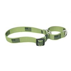 Olive Flag Martingale Collar