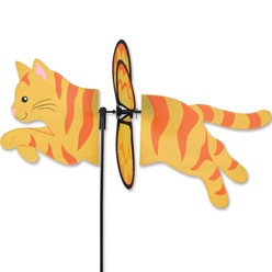 Orange Tabby Cat Garden Spinner