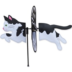 Black & White Cat Garden Spinner
