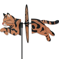 Brown Tabby Cat Garden Spinner