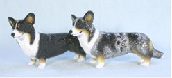 Welsh Corgi Cardigan Ron Hevener Dog Figurine- Click for breed colors
