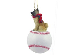 Akita Sport Christmas Ornament - Click for more breed colors