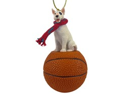Bull Terrier Christmas Sport Ornament - Click for more breed colors
