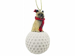 Cairn Terrier Sport Christmas Ornament- click for more  breed colors