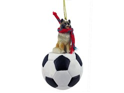 Keeshond Sport Christmas Ornament