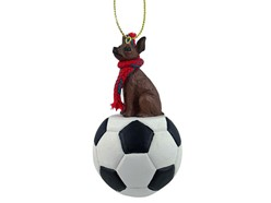 Miniature Pinscher Sport Christmas Ornament- Click for more breed colors