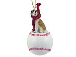 Saint Bernard Sport Christmas Ornament