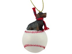 Wire Haired Dachshund Sport Christmas Ornament