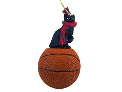 Black Cat Sport Christmas Ornament