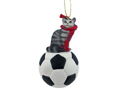 Maine Coon Cat Sport Christmas Ornament- Click for more breed colors