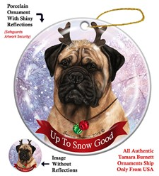 Bullmastiff Up To Snow Good Christmas Ornament