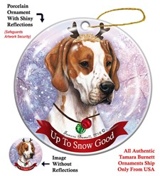 English Pointer  Up To Snow Good Christmas Ornament