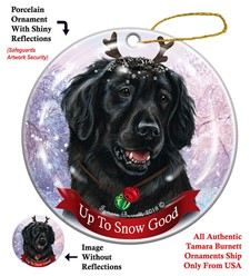 Flat Coated Retriever Up To Snow Good Christmas Ornament