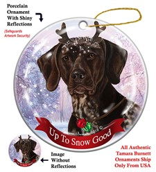 German Shorthaired Pointer Up To Snow Good Christmas Ornament