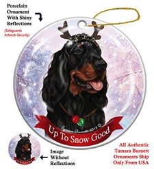 Gordon Setter Up to Snow Good Christmas Ornament
