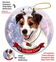 Jack Russell Up to Snow Good Christmas Ornament- click for more breed options