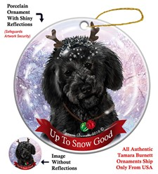Labradoodle  Up To Snow Good Christmas Ornament- click for more breed colors