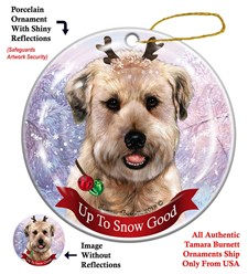 Soft Coated Wheaten Terrier Up to Snow Good Dog Christmas Ornament