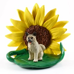 Akita Sunflower Dog Breed Figurine- click for more breed colors