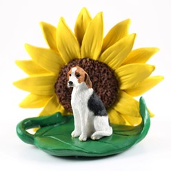 American Foxhound Sunflower Figurine