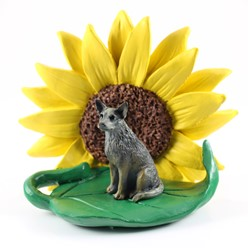 Australian Cattle Dog Sunflower Figurine- click for more breed colors