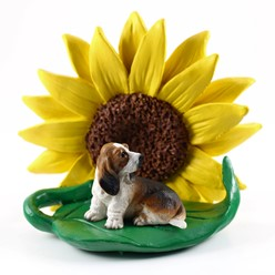 Basset Hound Sunflower Figurine