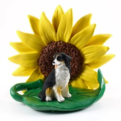 Bernese Mountain Dog Sunflower Figurine